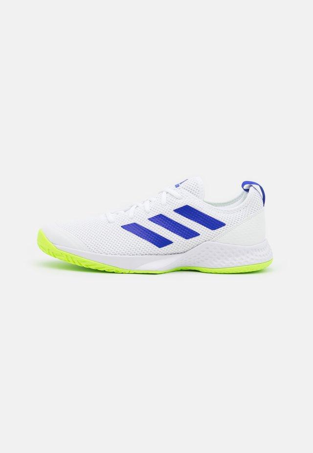 COURT CONTROL - Tennisschoenen voor alle ondergronden - footwear white/core black/signal green