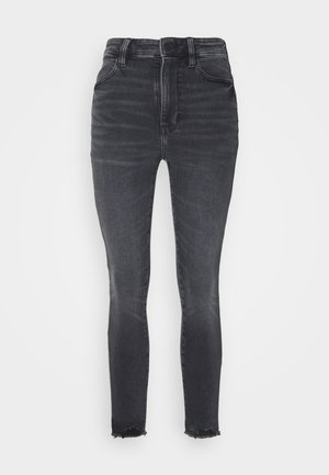 SUPER HI-RISE - Slim fit jeans - blue black