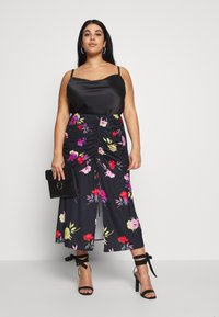 Lost Ink Plus - RUCHED DETAIL PRINTED MIDI SKIRT - A-linjainen hame - multi - 1