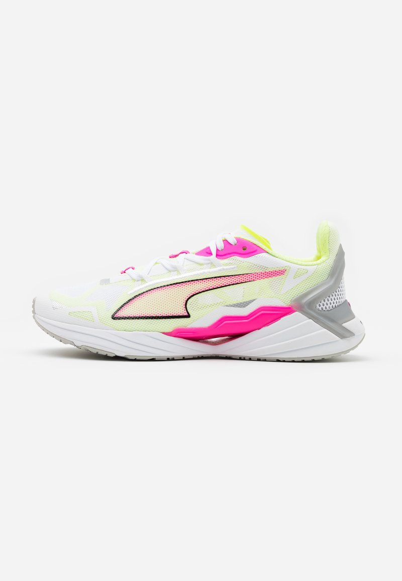 Puma - ULTRARIDE - Neutral running shoes - white/luminous pink/fizzy yellow