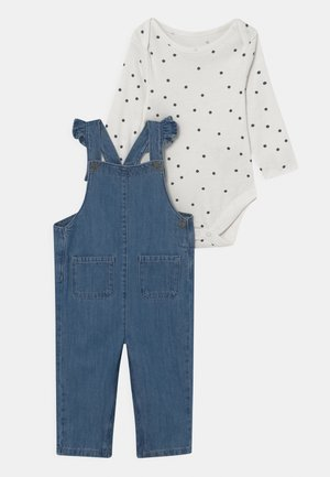 BABY DUNGAREE SET - Hängselbyxor - blue/white