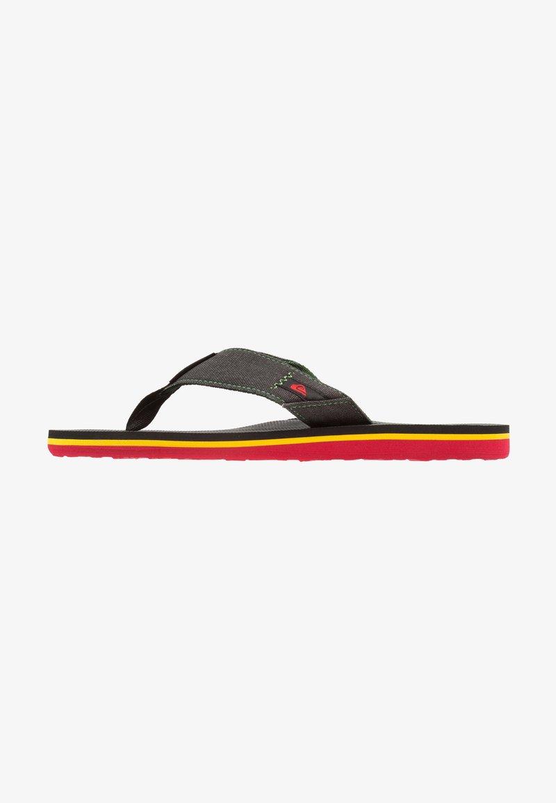 Quiksilver - MOLOKAI ABYSS - T-bar sandals - green/black