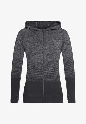 Zip-up hoodie - dark grey transition