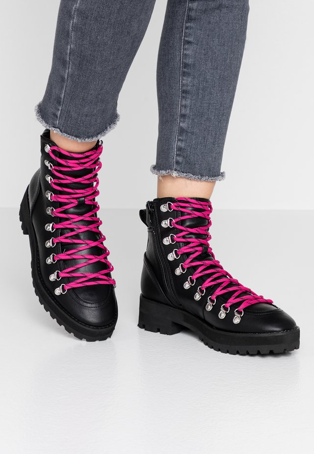 BUCK - Bottines à lacets - black