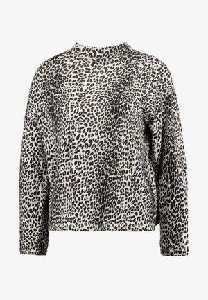 TURTLE NECK LONGSLEEVE TEE LEOPARD - Bluzka z długim rękawem - winter white
