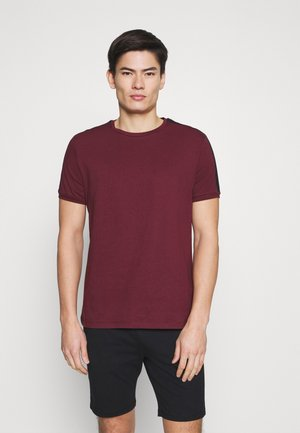 LOUNGE TEE - Pyjama top - bordeaux/dark blue