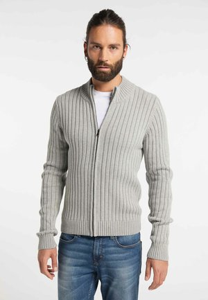 Cardigan - light gray melange