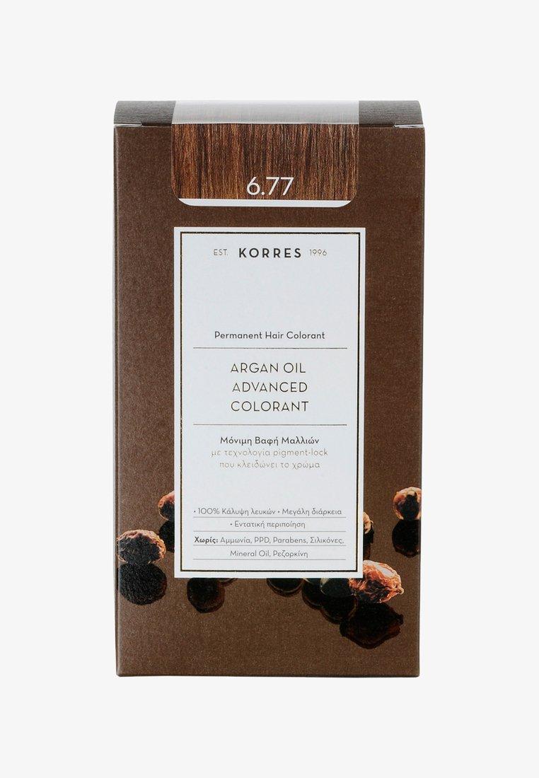 Korres - ARGAN OIL ADVANCED COLORANT - Hair colour - 6.77 gianduja