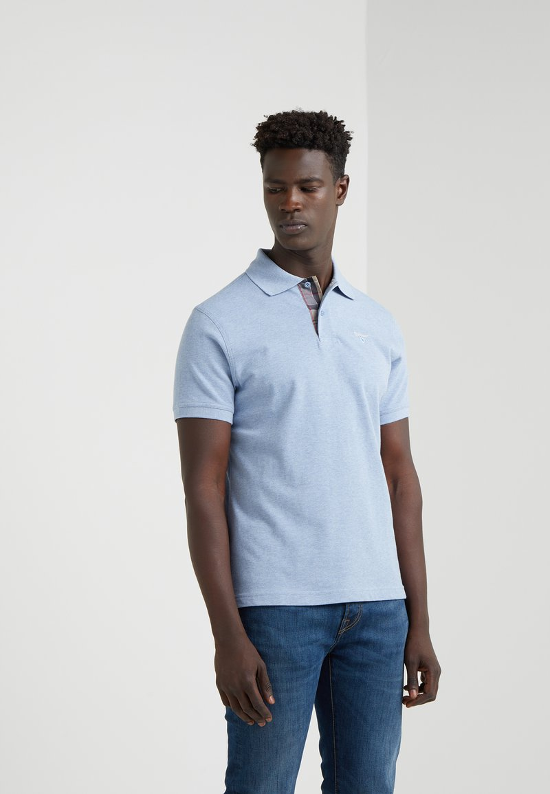 Barbour - TARTAN - Polo shirt - sky marl