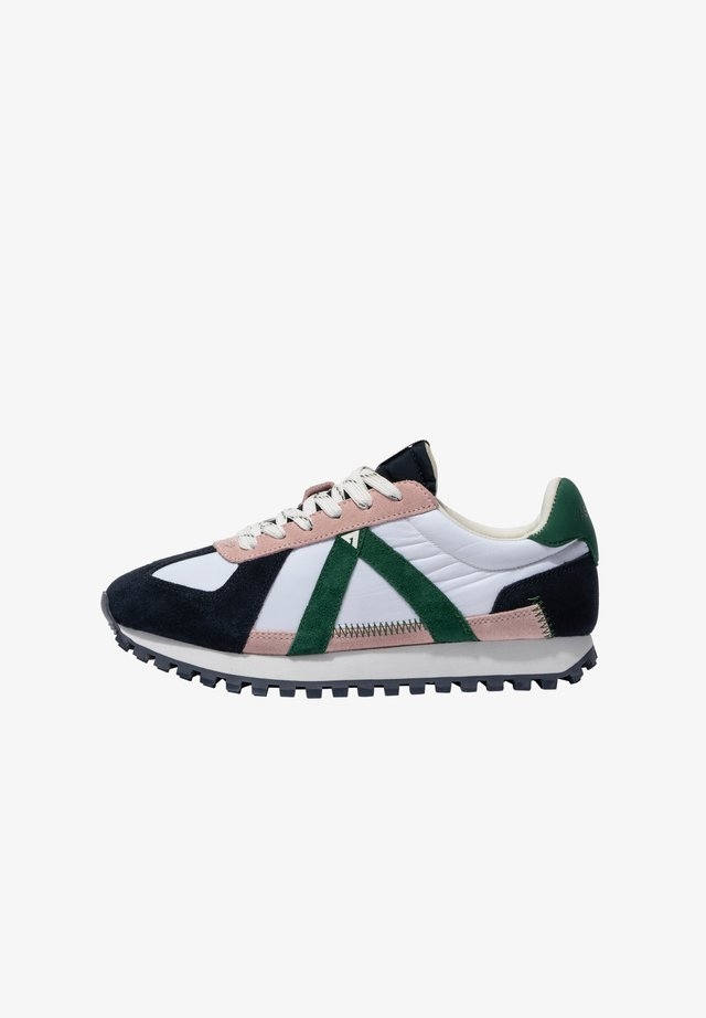 Sneakers laag - navy pink green
