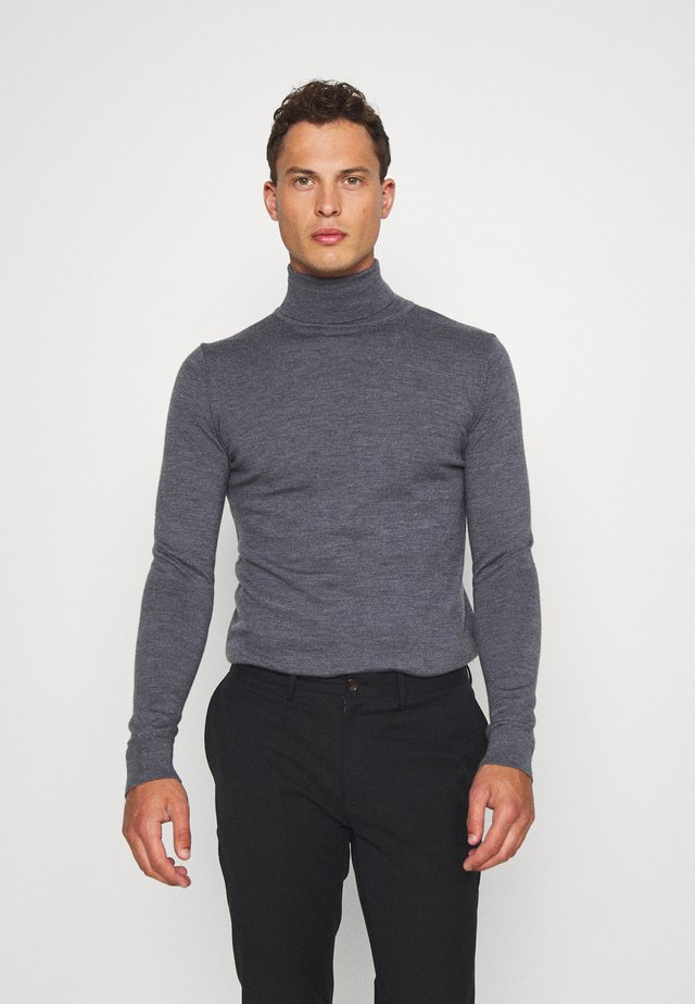 JOHANNES ROLL NECK - Stickad tröja - anthracite