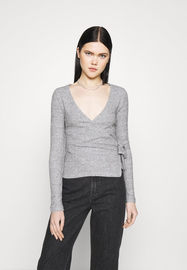 BRUSHED WRAP - Maglione - grey