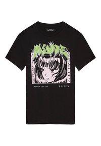 Bershka - MIT PRINT  - T-shirt print - black - 0