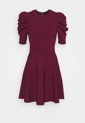 LLORNA EXTREME SLEEVE SKATER DRESS - Jumper dress - deep purple