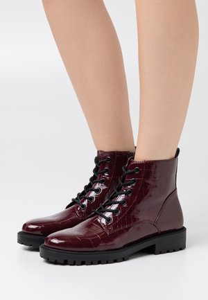 BRISTOL BOOT - Lace-up ankle boots - bordeaux red