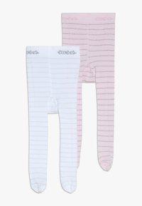 Ewers - GLITZERRINGEL 2 PACK - Panty - rosa/weiß - 0