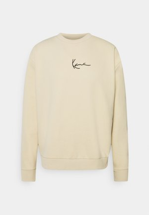 SMALL SIGNATURE CREW - Sweatshirt - beige