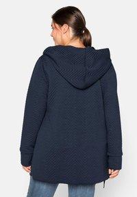 Sheego - Zip-up hoodie - nachtblau - 2