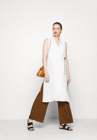Esprit Collection - LONG VEST - Väst - off white - 1