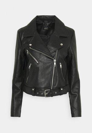 ONLVERA BIKER - Faux leather jacket - black