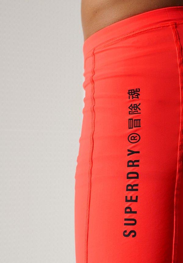 Superdry Szorty kąpielowe - neon red/czerwony Odzież Męska UIKX