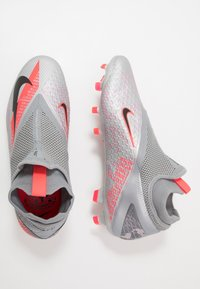 Nike Performance - PHANTOM VISION 2 PRO DF FG - Fotbollsskor fasta dobbar - metallic bomber grey/black/particle grey - 1