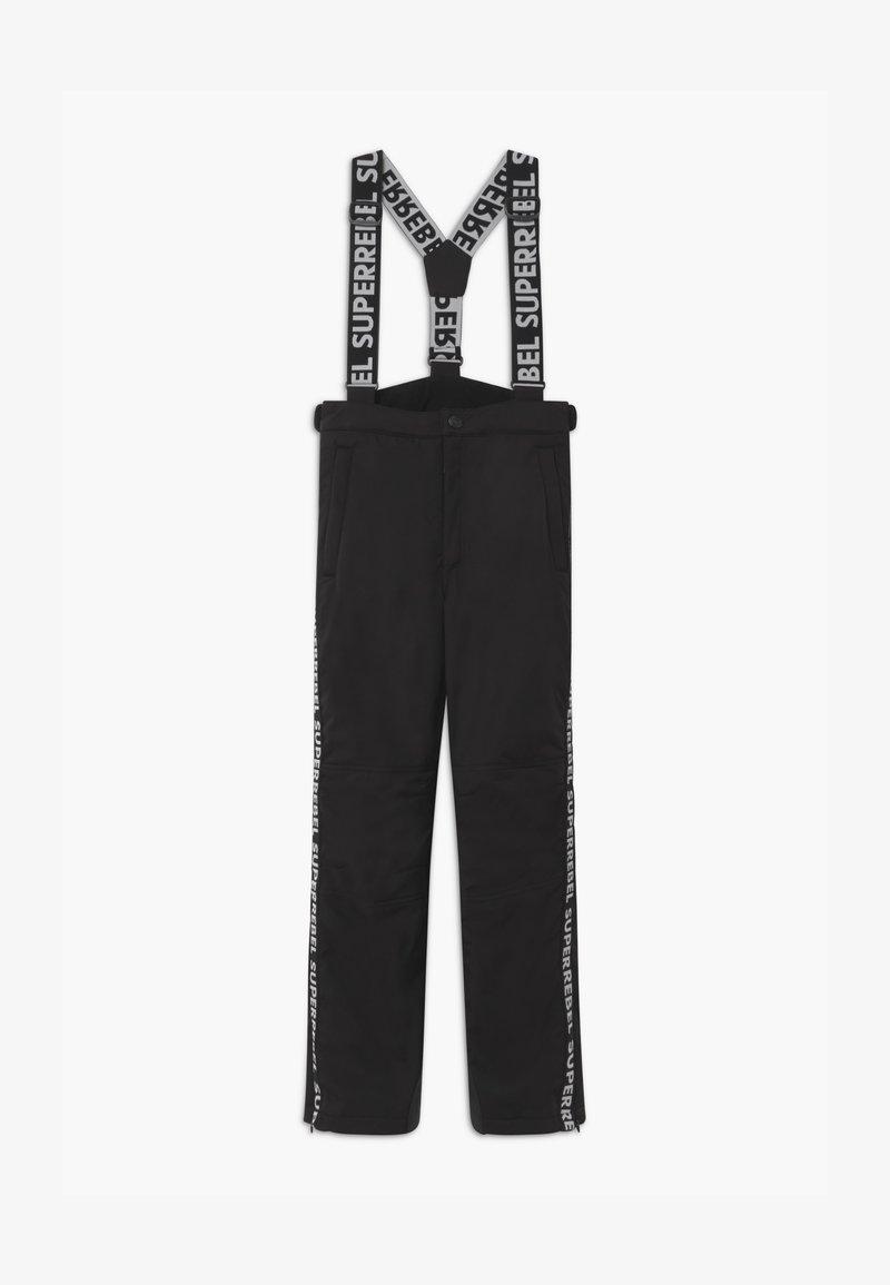 SuperRebel - SUSTAINABLE PLAIN - Zimní kalhoty - black