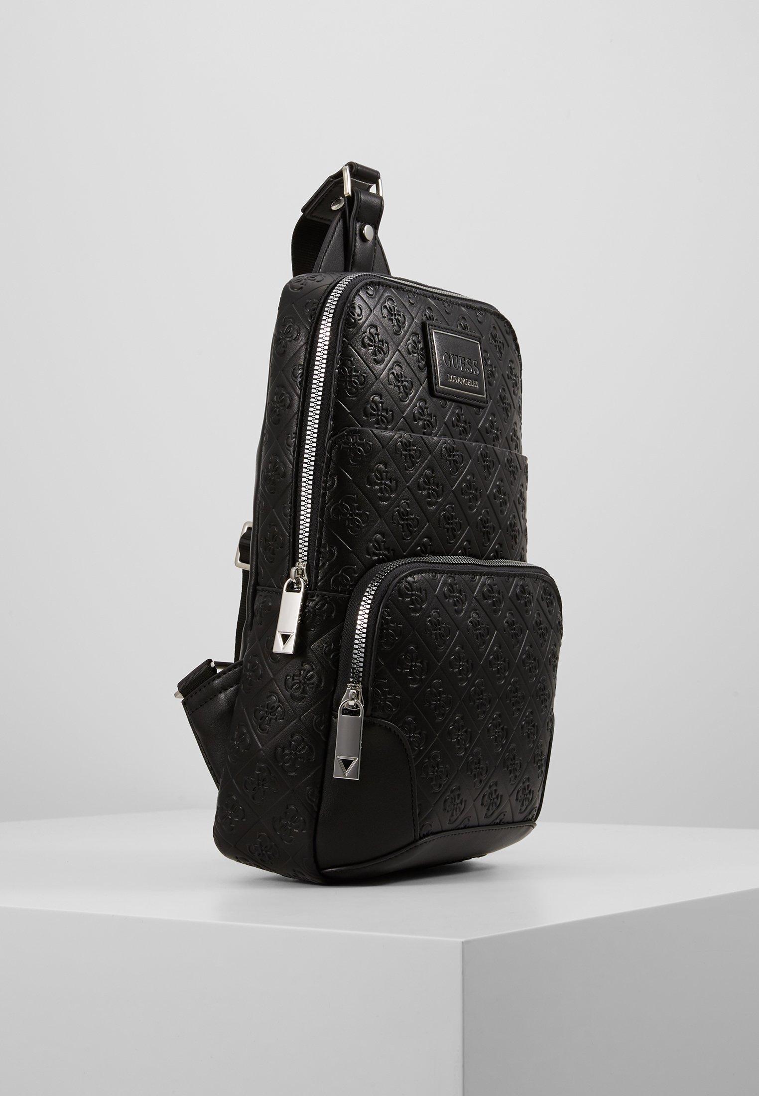 Guess DAN LOGO CROSSOVER BACKPACK - Tagesrucksack - black/schwarz - Herrentaschen 83KSE