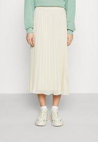 Monki - LAURA PLISSÉ SKIRT - A-line skirt - beige - 0