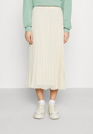 LAURA PLISSÉ SKIRT - A-line skirt - beige