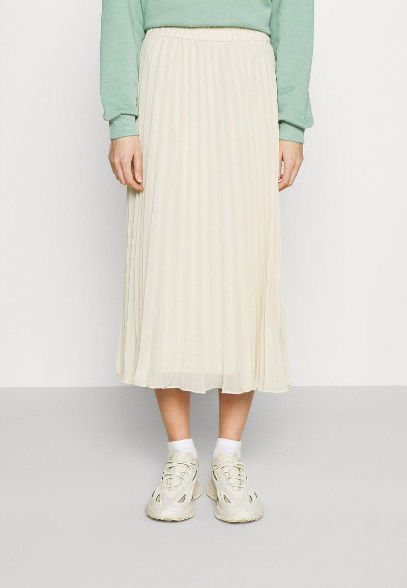Monki - LAURA PLISSÉ SKIRT - A-line skirt - beige