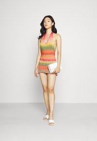 Jaded London - HALTER DRESS WITH BABYLOCK EDGE OMBRE - Strikket kjole - pink/yellow/green - 1