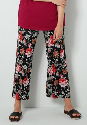 Trousers - schwarz/rot