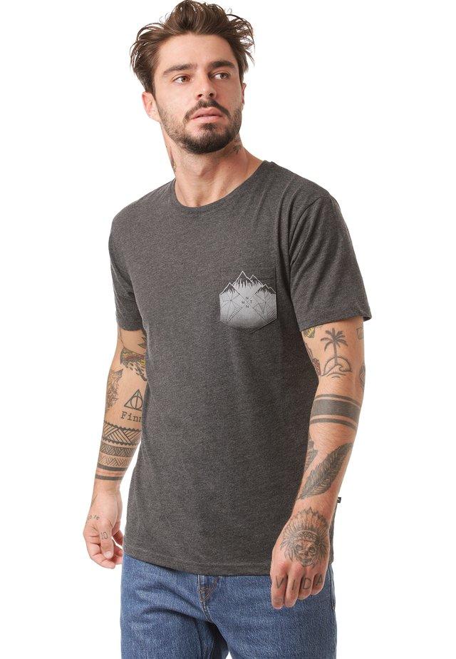 DEBO - Print T-shirt - anthra mel
