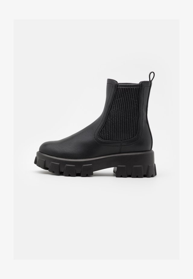 CHUNKY ELASTIC CHELSEA BOOTS - Platform ankle boots - black