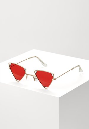 SUNGLASSES UNISEX - Lunettes de soleil - gold-coloured/red