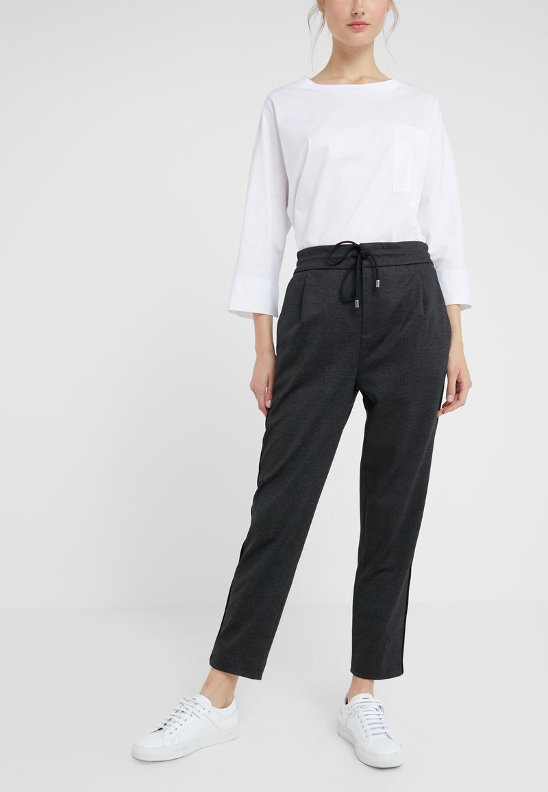 DRYKORN - LEVEL - Trousers - anthracite
