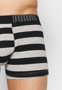 Puma - BOLD STRIPE BOXER 2 PACK - Panties - black - 4