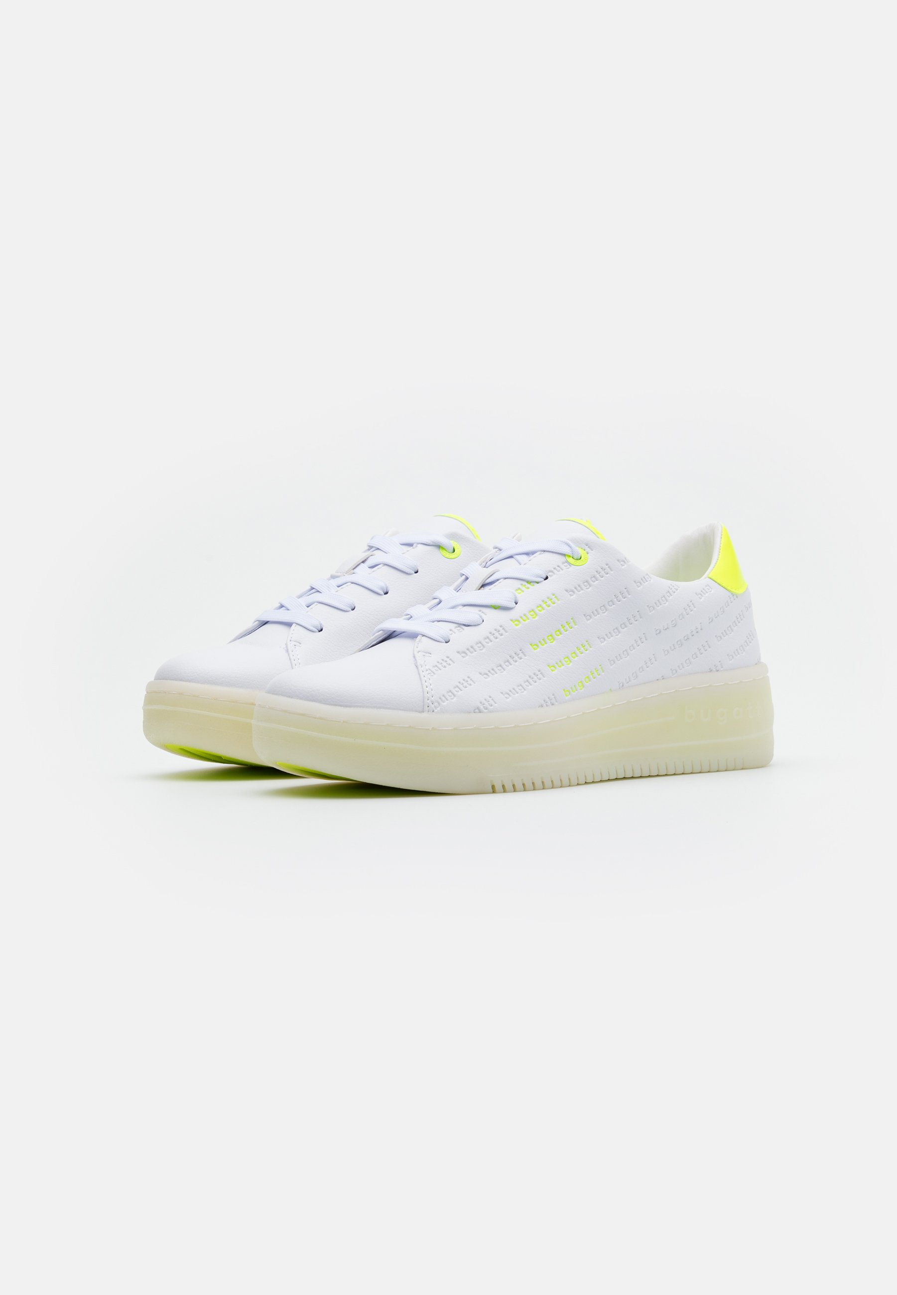 Bugatti OLIVIA - Baskets basses - white/yellow 7FjMYnfR