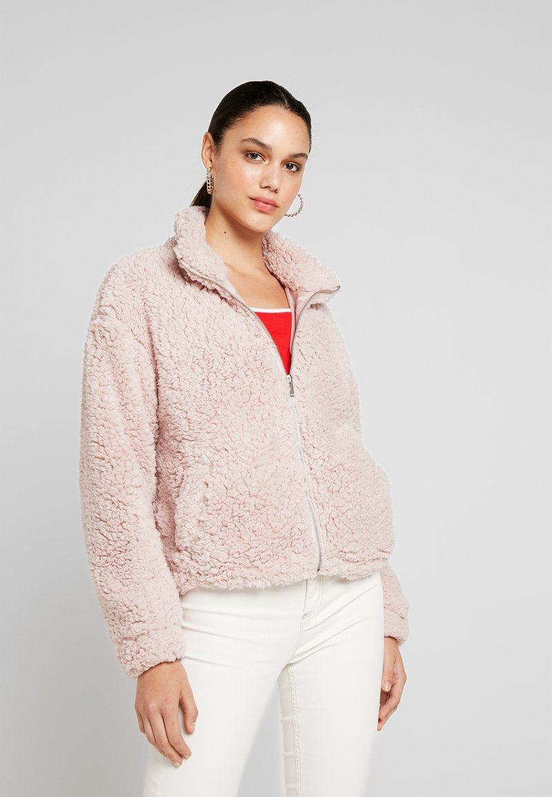 New Look - ZIP THROUGH - Light jacket - pink