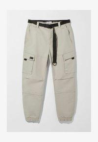 Bershka - Pantalon cargo - grey - 4