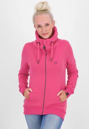 Zip-up hoodie - fuchsia