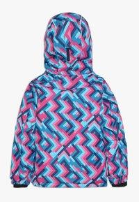 Kamik - TESSIE GRID - Vinterjacka - turquoise/neon pink - 1