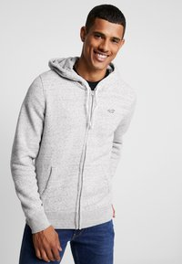 Hollister Co. - CORE ICON - Zip-up hoodie - grey - 0