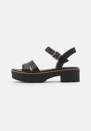 CURIE - Sandales à plateforme - black