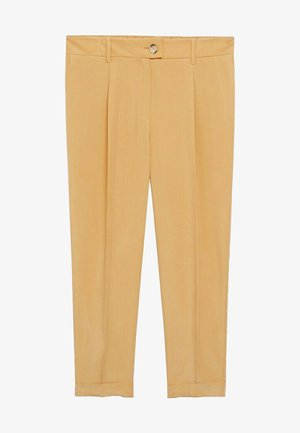 PLEAT8 - Pantaloni - moutarde