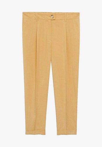 PLEAT8 - Trousers - moutarde