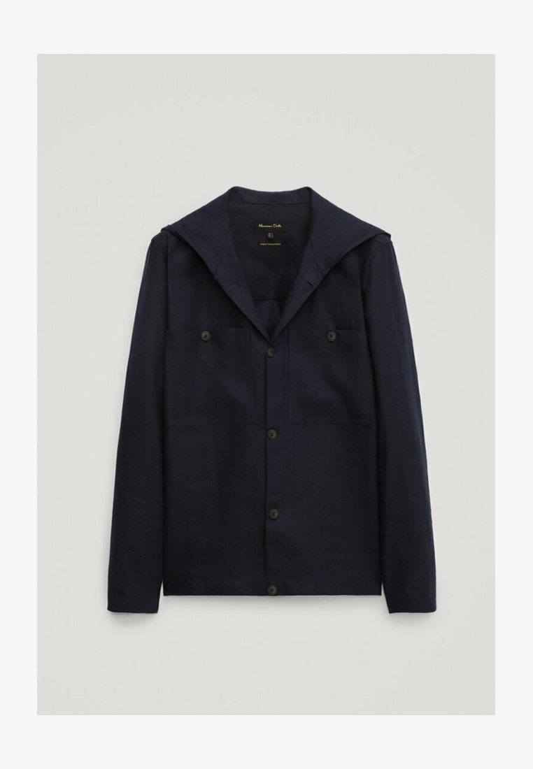 Massimo Dutti - Summer jacket - blue-black denim