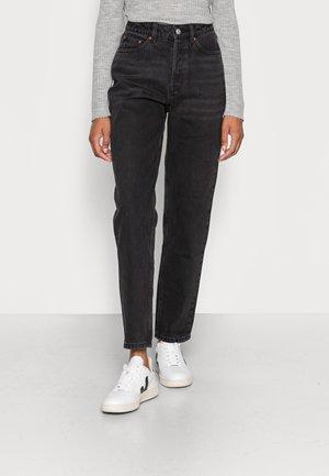 MOM FIT - Jeans baggy - dark stone black black denim