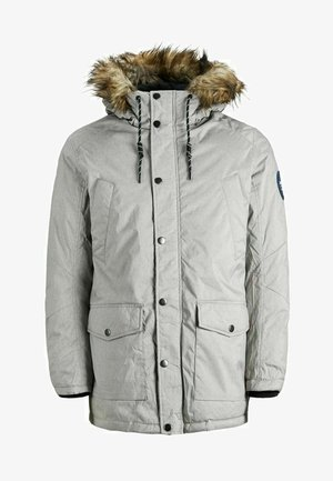 Winter coat - light grey melange